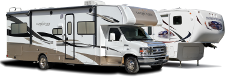 Motorhome and Trailer